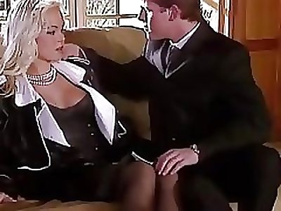 Silvia Saint Fucks get under one's Lawyer and Wanks His Cum